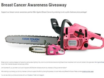 Husqvarna Professional Products Inc. Breast Cancer Contest
