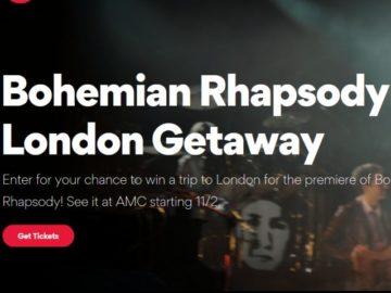 Bohemian Rhapsody London Global Premiere Sweepstakes