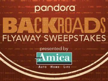 Pandora Backroads Flyaway Sweepstakes