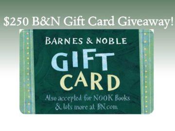 $250 Barnes & Noble Gift Card Givewaway
