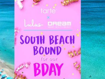 Taste Cosmetics South Beach Bound Sweepstakes