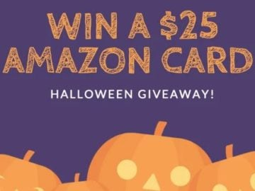 Our Halloween Giveaway – Win a $25 Amazon Card!