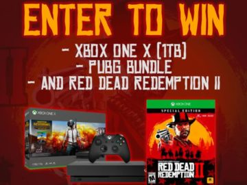 Xbox One X PUBG Bundle & Red Dead Redemption II Giveaway