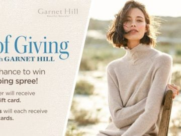 The Warmth of Giving Garnet Hill Sweepstakes