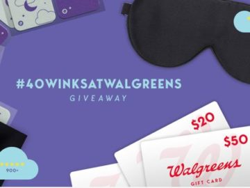 40 Winks At Walgreens Sweepstakes