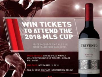 Trivento Major League Soccer Cup Sweepstakes