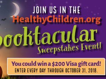 HealthyChildren.org 2018 Spooktacular Sweepstakes