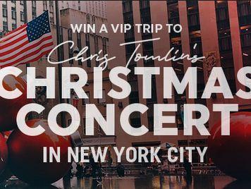 Chris Tomlin Christmas.Chris Tomlin Christmas In Nyc Flyaway Sweepstakes