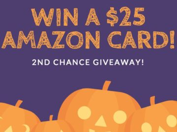 2nd Chance – Win a $25 Amazon Card for Halloween!