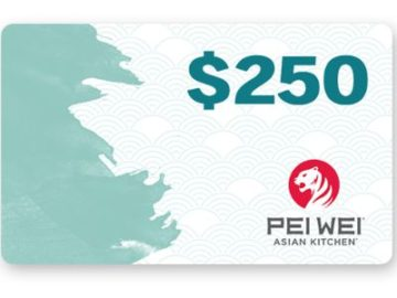 Win a $250 Pei Wei Gift Card!