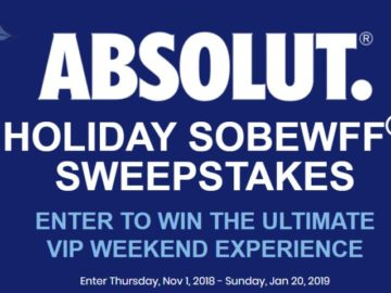 Absolut South Beach Wine and Food Festival Sweepstakes