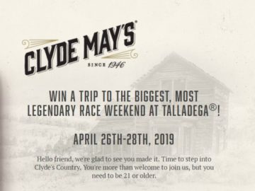 Clyde May's Road to Talladega Sweeptakes