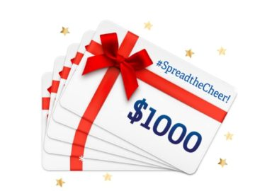 Spread the Cheer $1,000 Gift Card Sweepstakes