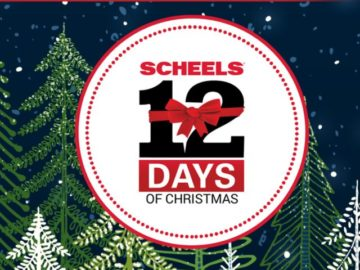 Sheels 12 Days of Christmas Giveaway