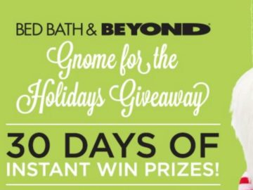Bed Bath & Beyond Gnome for the Holidays Sweepstakes and Instant Win