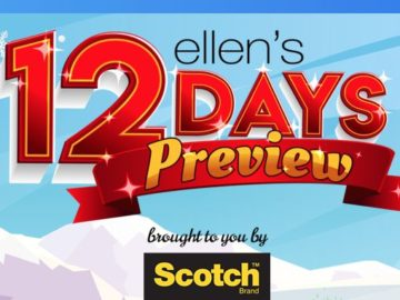 Ellen 12 Days of Giveaways Preview!