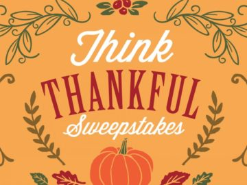 Think Thankful $100 Gift Card Sweepstakes