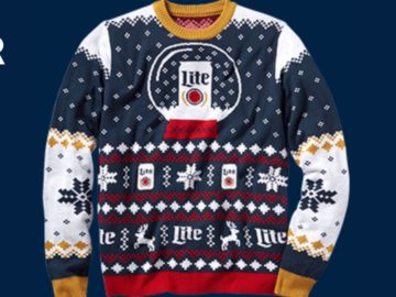 Miller Lite Ugly Sweater Holiday Instant Win Game
