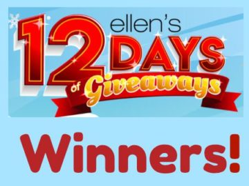 Winners of 12 Days of Giveaways!