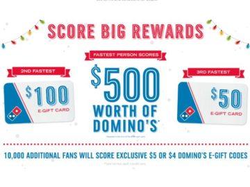 Quikly Score $500 Worth of Domino's