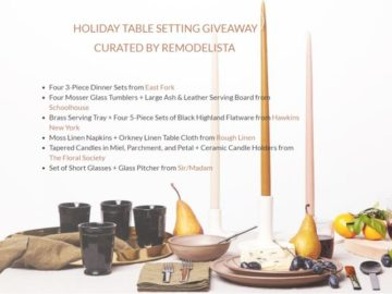 Holiday Tablescape Sweepstakes