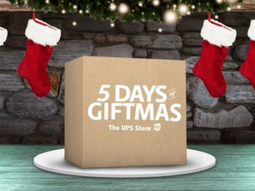 UPS Store Five Days of Giftmas 2018 Sweepstakes