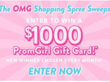 OMG PromGirl Shopping Spree Sweepstakes