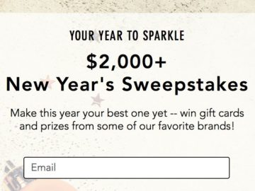 $2,000+ New Year's Sweepstakes