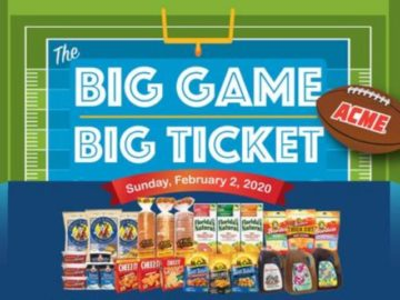ACME 2019 Big Game – Big Ticket Sweepstakes (Limited States)