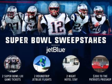 Patriots Super Bowl LIII Sweepstakes