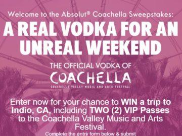 Absolut Coachella Sweepstakes