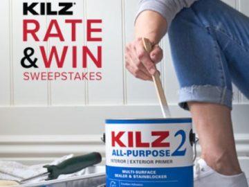 2019 KILZ Rate & Win Sweepstakes