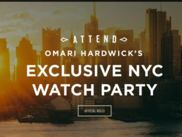 Watch Party with Omari Hardwick Sweepstakes
