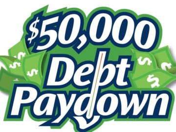 $50,000 Debt Paydown Sweepstakes