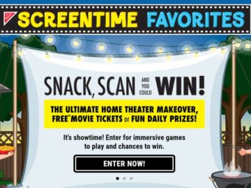 Nabisco Screentime Favorites Sweepstakes and Instant Win