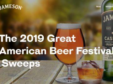 2019 Great American Beer Festival Sweepstakes