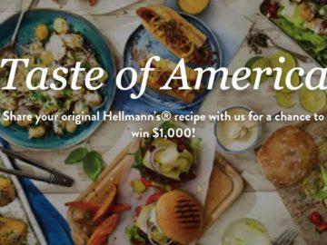 Hellman's Taste of America Sweepstakes