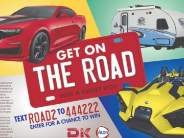 Get On The Road Sweepstakes (Text Entry & Limited States)