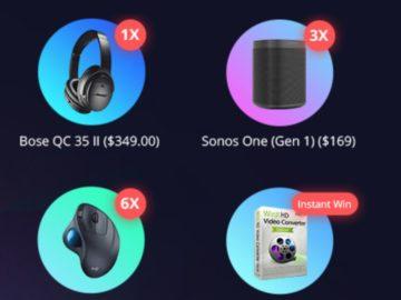 WinXDVD:  Win Bose Bluetooth Headphones + More