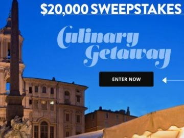 Food & Wine Culinary Getaway $20,000 Sweepstakes