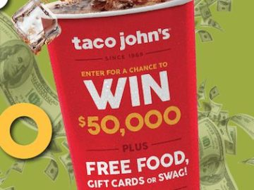 Taco John's 50th Anniversary Promotion (Code/Limited States)