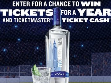 New Amsterdam Vodka Tickets for a Year Sweepstakes