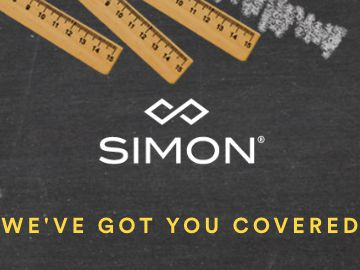 Simon Back To School's Covered Sweepstakes