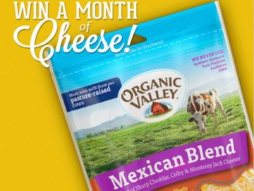 Organic Valley Cheese Giveaway