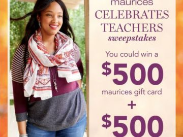 Maurices Celebrates Teachers Sweepstakes (Teachers Only)
