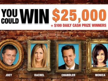 Friends $25,000 Sweepstakes (Word of Day)