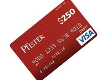 Pfister $250 Email Sign-Up Sweepstakes