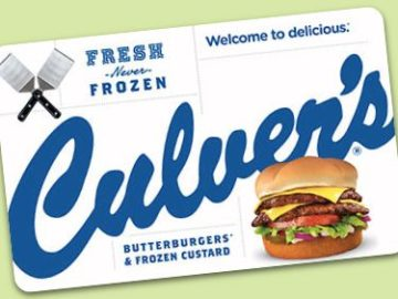 Culver's Memory Lane Sweepstakes (Photo / Limited States)