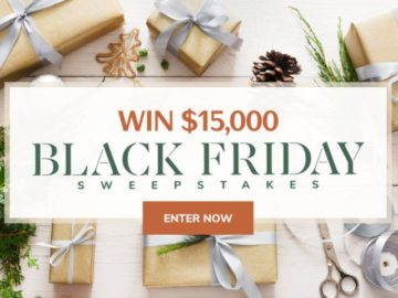 Martha Stewart $15,000 Black Friday Sweepstakes