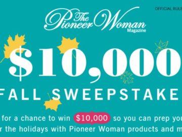 Pioneer Woman Magazine $10,000 Dream Big Sweepstakes